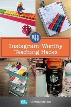 Teacher hacks that will keep your classroom organized and your sanity intact. First Year Teachers, New Teachers, Elementary Teacher, School Teacher, Elementary Schools, Secondary Teacher, Secondary School, Teacher Hacks, Teacher Organization