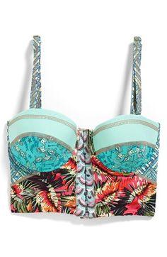 Maaji 'Cockatoo Peekaboo' Underwire Bustier Bikini Top