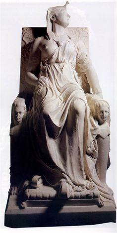 "Edmonia Wildfire Lewis ( 1845 - 1900? ) ""Death of Cleopatra"" 1876"
