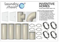 Laundry shoot Laundry Chute - 2 Storey House Kit 2 (Inc 2 Entry Points)