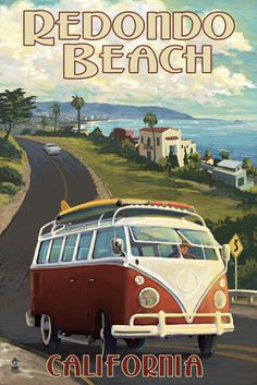 Redondo Beach, California - VW Van Cruise