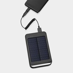 For hurricane season! Solar Charger - Charge smartphones and other gadgets with this portable solar charger using your own USB cable. It can charge an iPhone® up to three times. Use micro USB cable (included) to charge the Solar Charger when there is not enough light.