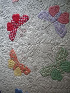 butterflies with beautiful quilting