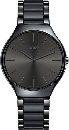 New RADO True Thinline Ceramic Bracelet Watch, Womens accessories. Fashion is a popular style Army Watches, Big Watches, Sport Watches, Cool Watches, Citizen Watches, Analog Watches, Black Watches, Unique Watches, Popular Watches