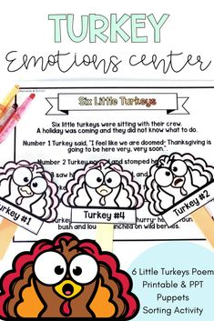 Thanksgiving Activity Turkey Emotions Social Emotional Learning