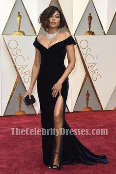Taraji P. Henson Off-the-Shoulder Formal Dress 89th Annual Academy Awards