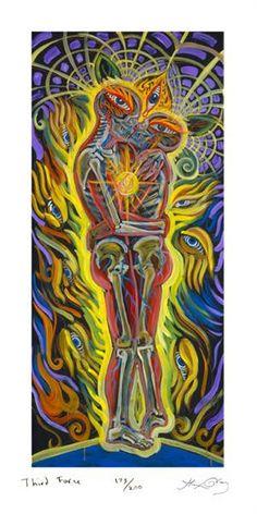 Force by Alex Grey Alex Grey, Alex Gray Art, Grey Art, Visionary Art, Psychedelic Art, Aesthetic Art, Love Art, Vintage Posters, Art Drawings