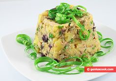 Potato salad with tuna, olives and gherkins | Dietary Cookery | Genius cook - Healthy Nutrition, Tasty Food, Simple Recipes