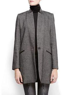 This lightweight coat from Mango looks so sleek!