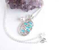 Opal Necklace Charm Necklace Gift for Her Opal by AlwaysCrafty77, $35.00