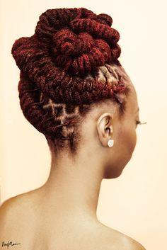 Photo featured in Taji Magazine Photographer: iamnaymarie Hair Stylist: Nessa ( on ig) Model/MUA: ( on ig, Keisha Charmaine on YT) Dreadlock Styles, Dreads Styles, Braid Styles, Dreadlock Hairstyles, Braided Hairstyles, Wedding Hairstyles, Layered Hairstyles, Hair Afro, Hair Locks