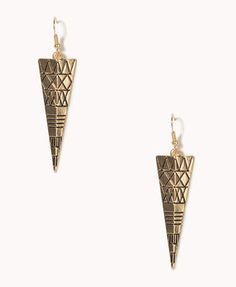Etched Tribal Pattern Earrings