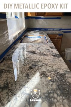 Give your tables, counters or floors the look you've always wanted using – epoxy resin DIY Countertop Overlay, Epoxy Countertop Kit, Concrete Countertops, Kitchen Countertops, Vinyl Blinds, Faux Granite, Diy Epoxy, Epoxy Floor, Amazing Bathrooms