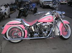 Customer's Pink Fatboy    Ride Wright Wheels #76