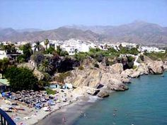 Nerja, Spain. My second home.. I miss the days of walking down to the beach for the summer.