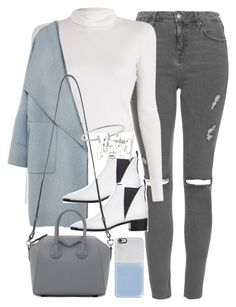 """""""Outfit with grey jeans for winter"""" by ferned on Polyvore featuring Topshop, A.L.C., Zara, Acne Studios, Givenchy, Humble Chic and Casetify"""