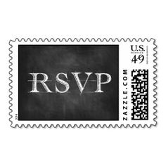 RSVP Chalkboard Text Postage. It is really great to make each letter a special delivery! Add a unique touch to invites or cards with your own photos or text. Just click the image to learn more!