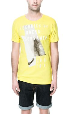 Image 1 of PHOTOS AND TEXT T-SHIRT from Zara
