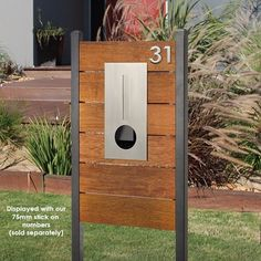 Designed by Milkcan Timber Pillar Letterbox Hendon Stainless Steel Mailbox in Home & Garden, Building Materials & DIY, Letterboxes | eBay