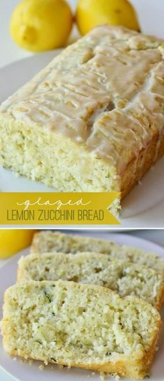 Glazed Lemon Zucchini Bread - This looks SOO YUMMY! I LOVE zucchini bread and I LOVE lemony desserts! The best of both in one delicious bread! Glazed Lemon Zucchini Bread Recipe, Zucchini Bread Recipes, Lemon Bread, Zucchini Loaf, Taste Of Home Zucchini Bread Recipe, Zucchini Bread Cake Mix Recipe, Zuchinni Bread, Banana Bread, Lemon Recipes