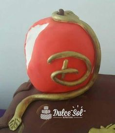 Manzana en masa de goma
