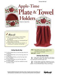 Apple Time Plate & towel Holder Pg 1/3