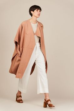 Fatima Wrap Cape, Tan by Apiece Apart