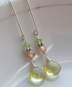 A Little Lemon, A Little Lime / Lemon Quartz, Cubic Zircon, Peridot | miabellacollection-jewelry - Jewelry on ArtFire