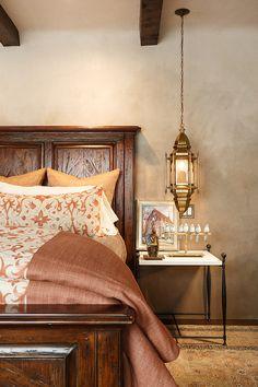Santa Fe Hacienda by Chandler Prewitt Design - beautiful details Mediterranean Bedroom, Mediterranean Homes, Home Staging, Santa Fe, Interior Styling, Interior Design, Design Interiors, Moroccan Bedroom, Adobe House