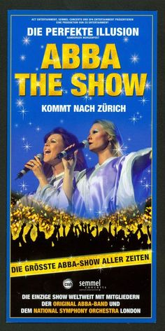 THE ABBA SHOW 2010 HALLENSTADION ZÜRICH SWITZERLAND ORIG. FLYER