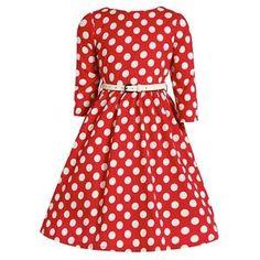 'Mini Holly' Children's Red Polka Dot Dress  | eBay