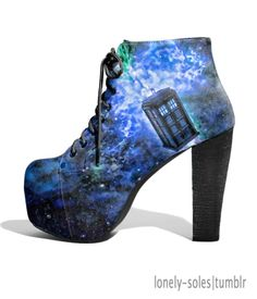 TARDIS shoes <3  These so rock!
