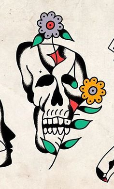 Sun Tattoo Designs, Old School Tattoo Designs, Antique Tattoo, Vintage Tattoo Design, Traditional Tattoo Design, Traditional Tattoo Flash, Vintage Flash, American Tattoos, Skull Art