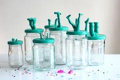 Leggy storage jars