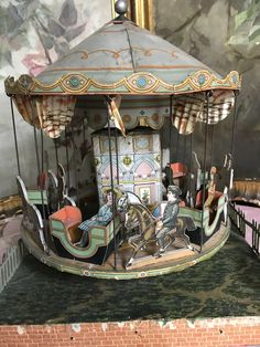 Victorian Toys, Tin Candles, Antique Toys, Old Toys, Ruby Lane, Carousel, 19th Century, Christmas Crafts, The Past