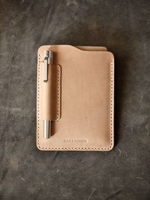 """Dante"" Natural Vegetable Tanned Handmade Leather Notebook Sleeve"