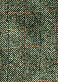 Hebridean Overcheck Twill Green H09 Islay Tweed