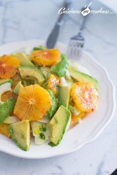 Raw fennel, avocado and orange salad - Healthy & Colorful Salads - Raw Food Recipes Chicken Pasta Recipes, Healthy Chicken Recipes, Raw Food Recipes, Soup Recipes, Salad Recipes, Recipes Dinner, Avocado Dessert, Vegetarian Crockpot Recipes, Vegan Recipes