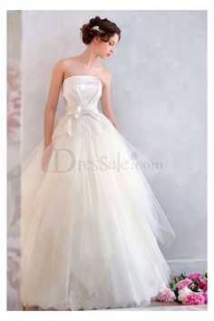 New Collection Ball Gown Bow Tie Wedding Gown with a Bolero  $348