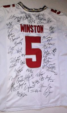 Florida State Seminoles (FSU) 2013/14 Team Autographed Jersey