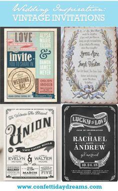 Best Vintage Wedding Invitations | Confetti Daydreams ♥  ♥  ♥ LIKE US ON FB: www.facebook.com/confettidaydreams  ♥  ♥  ♥ #Wedding #Vintage #WeddingInvitations