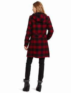 NEW NWT Womens LONDON FOG BUFFALO PLAID PEA COAT SHAWL COLLAR ...