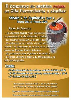7/9 II Concurso de alubias rojas en Olla Ferroviaria Quintana Martin Galindez 11:30h Plaza de la fuente La Isidora  Las Merindades