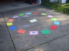 Candyland Carousel Game: Cake-walk style game where kids walk around to music…