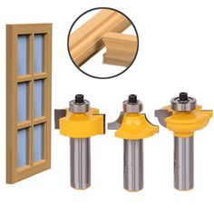 Cheap router bit set, Buy Quality woodworking cutter directly from China router bit door set Suppliers: High Quality Glass Door Router Bits Set Round Over Bead Shank Woodworking Cutter Router Woodworking, Woodworking Projects, Wood Router, Woodworking Shop, Cabinet Door Router Bits, Door Beads, Bit Set, Door Molding, Power Tool Accessories