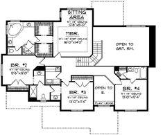 Large Inviting Porch - 89054AH | 2nd Floor Master Suite, Bonus Room, CAD…