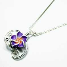 Made to Order  Design 14  Aromatherapy Wire Wrap Tropical Flower Perfume Pendant by Nixcreations, $24.99