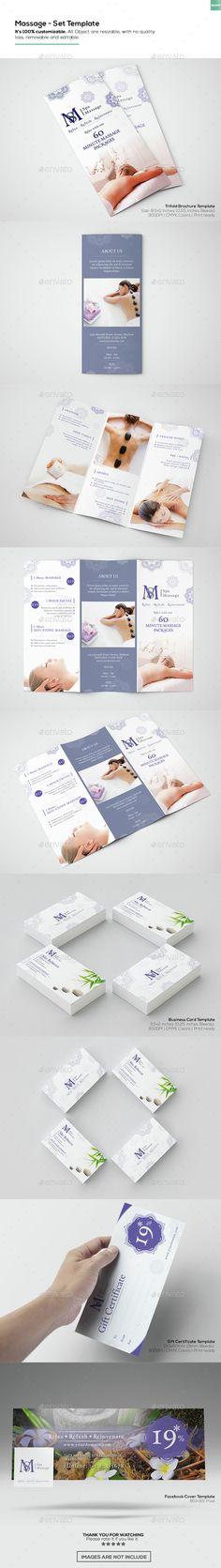 Massage - Set Template - Informational Brochures
