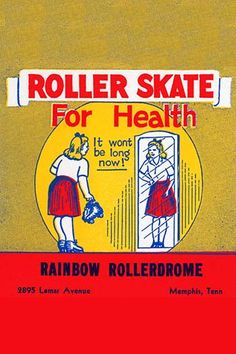 Stickers were issued by roller rinks across the United States. Many were stock designs imprinted with the local skating facility. This was for Rainbow Rollerdome in Memphis, TN. This sticker was speci