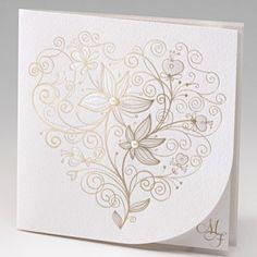 Trouwkaart Flowers en Pearls